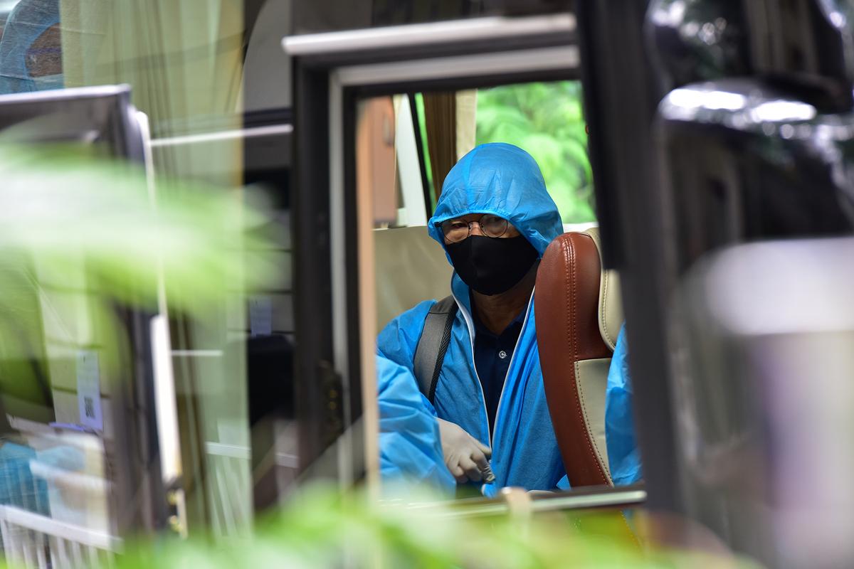 Những hình ảnh đội tuyển Việt Nam tại điểm cách ly ở TP.HCM - 2