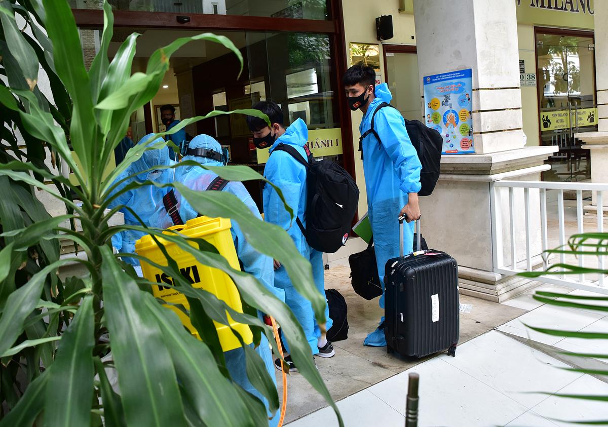 Những hình ảnh đội tuyển Việt Nam tại điểm cách ly ở TP.HCM - 5