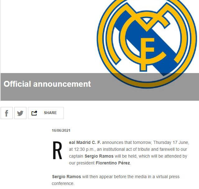 NÓNG: Sergio Ramos chia tay Real Madrid, báo Tây Ban Nha hé lộ điều bất ngờ - 1