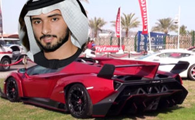 Ngoài hoàng tử Harman Dan, hoàng thái tử Hamdan Al Maktoum của Dubai cũng là người sở hữu bộ sưu tập siêu xe khiến nhiều người phải ngưỡng mộ.