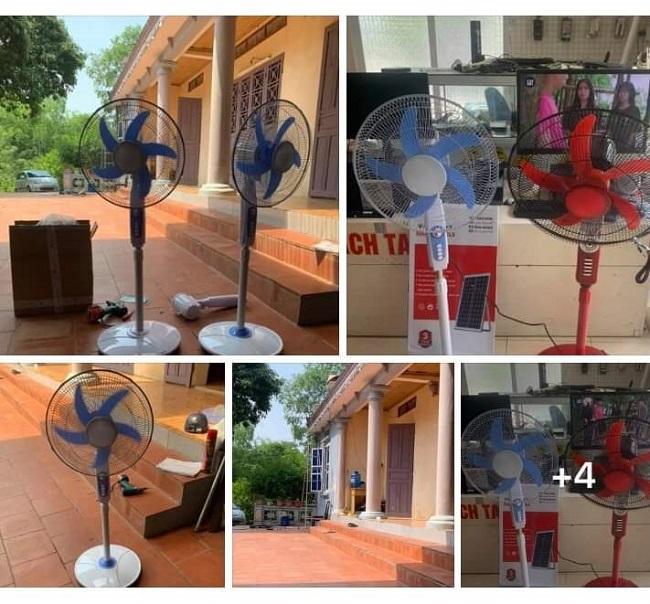 Đề phòng mất điện ngày nóng, người dân thi nhau mua quạt năng lượng mặt trời - 1