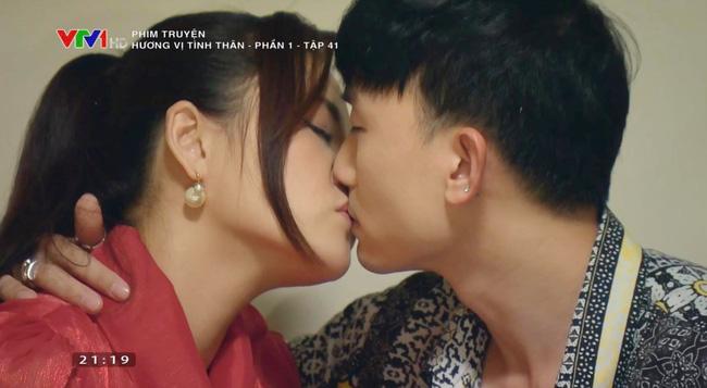 """Thu Quỳnh lộ clip hôn Anh Vũ trong phim """"Hương vị tình thân"""" - 1"""