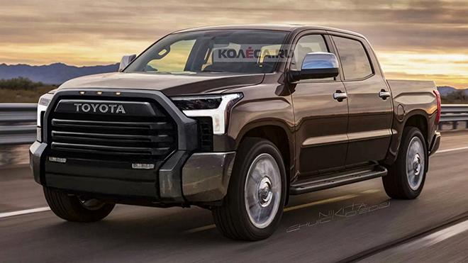 Xe bán tải Toyota Tundra thế hệ mới lộ bản phác thảo - 1
