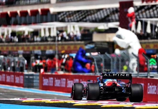 F1 racing, French GP test run: