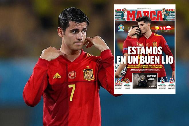 Tây Ban Nha nguy cơ bị loại khỏi EURO: Báo chí chỉ trích, Morata đáp trả cực gắt - 1