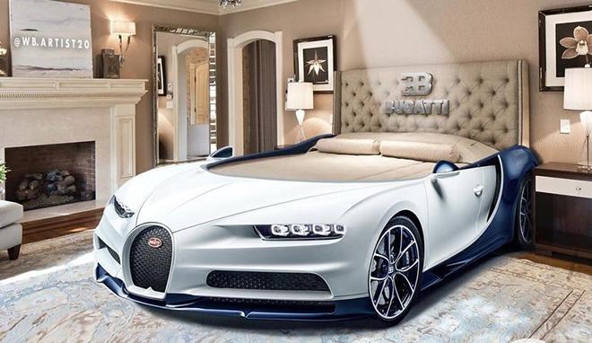"""Bugatti Chiron phiên bản """"giường ngủ"""" trông sẽ như thế này này - 1"""