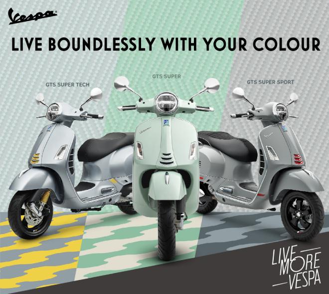 Xe tay ga hạng sang Vespa GTS cập nhật 3 màu mới, đẹp mỹ mãn - 1