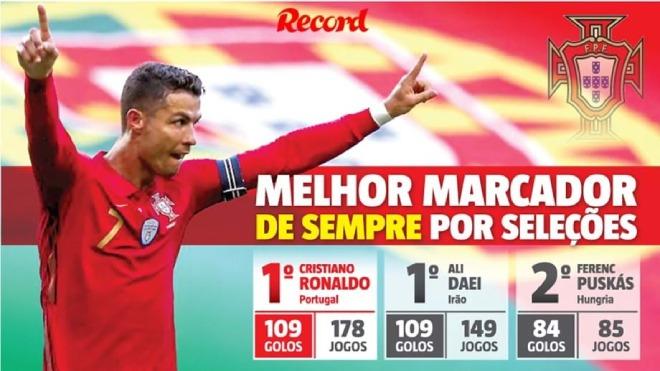 """Bồ Đào Nha - Pháp rượt đuổi mãn nhãn, báo chí ngả mũ vì """"vua kỷ lục"""" Ronaldo - 1"""