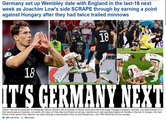 Đại chiến Anh - Đức vòng 1/8: Báo chí Anh run rẩy, người Đức dửng dưng - 1
