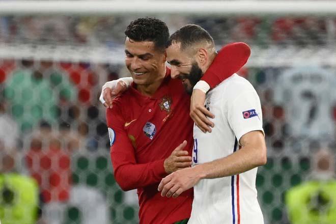 """Sốc EURO 2020: Nghi án Ronaldo """"chỉ đạo"""" Benzema đá ma giúp BĐN vào vòng 1/8 - 1"""
