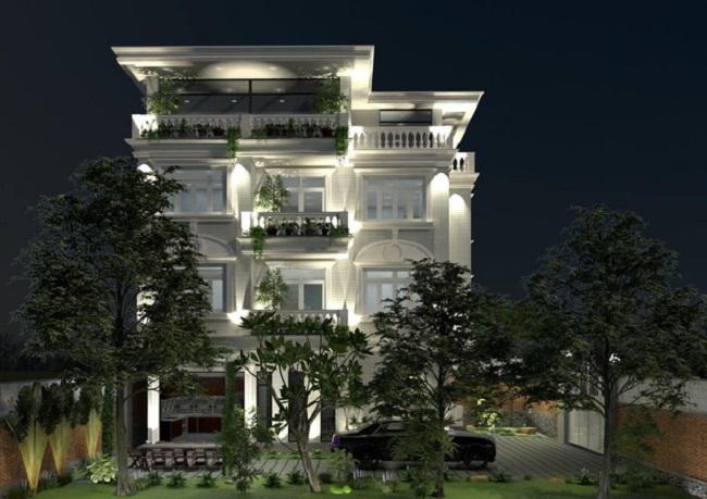 Lý Nhã Kỳ sở hữu căn biệt thự 4 tầng màu trắng nguy nga, lộng lẫy như cung điện.