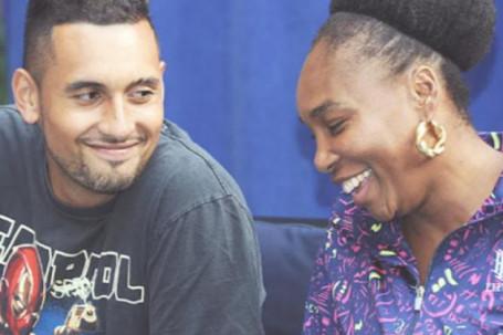 """Trai hư"" Kyrgios ""cặp"" Venus Williams, tuyên bố Wimbledon trồng cỏ dởm"