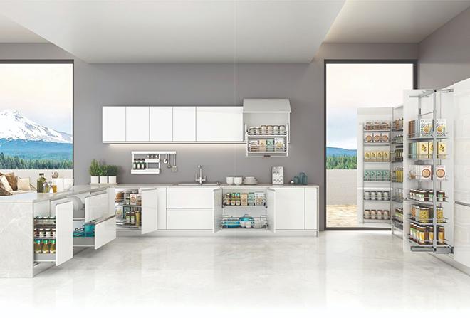 Phụ kiện tủ bếp Faster cho căn bếp tiện nghi và hiện đại - 1