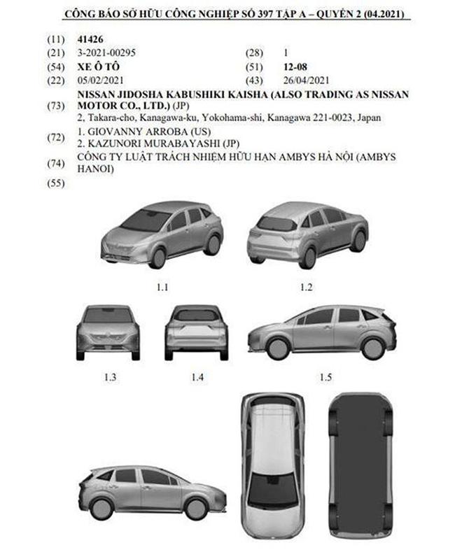 Nissan đăng ký kiểu dáng công nghiệp xe Note Aura tại Việt Nam - 3