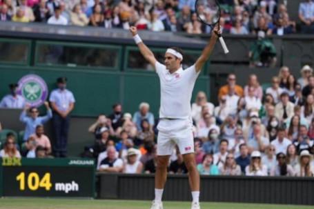 """Tuyệt phẩm Wimbledon: Federer đánh bóng chéo sân nhanh """"như điện"""""""