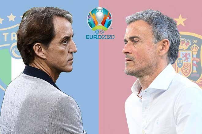Tin nóng EURO 2020 tối 6/7: HLV Mancini ngợi ca Enrique trước đại chiến - 1