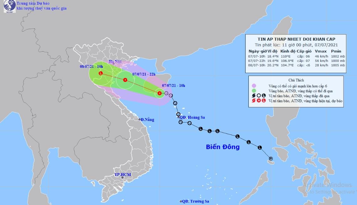 Áp thấp nhiệt đới sẽ vào đất liền, những tỉnh nào nằm ở vùng trọng tâm? - 1
