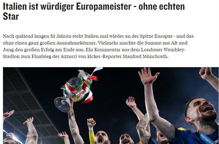 """Italia vô địch EURO: Báo châu Âu hoan hỉ, tôn vinh """"Nhà vua bất khả chiến bại"""" - 4"""