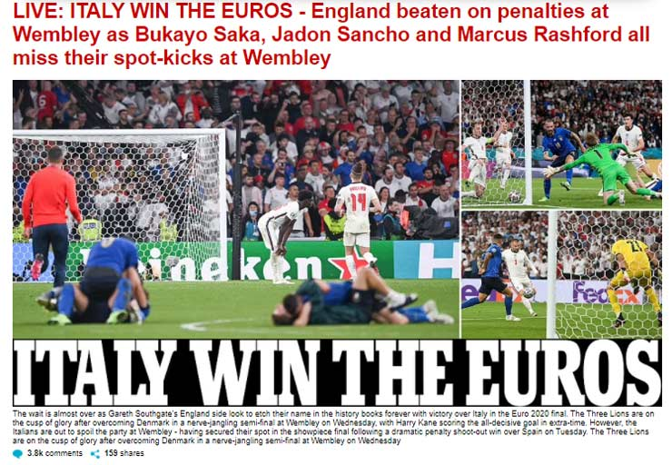 """Italia vô địch EURO: Báo châu Âu hoan hỉ, tôn vinh """"Nhà vua bất khả chiến bại"""" - 6"""