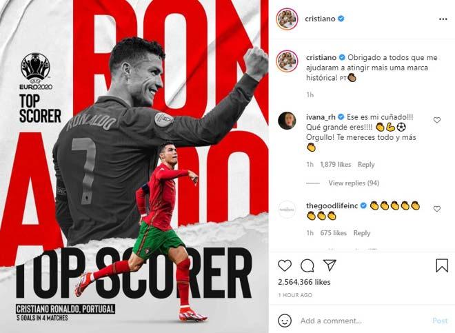 Ronaldo khoe ảnh nóng bỏng bên người đẹp, nói gì sau khi giành vua phá lưới EURO? - 1