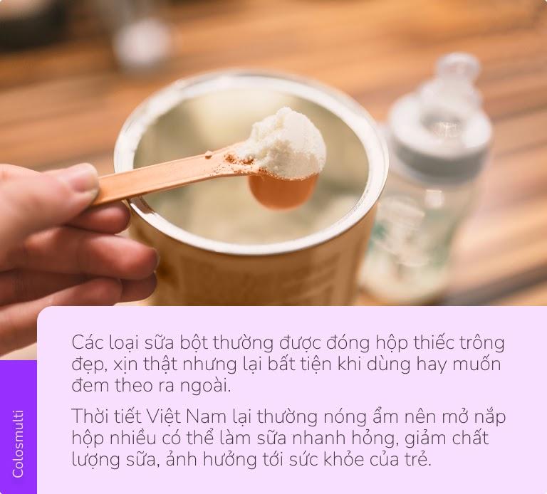 Không phải đong từng thìa sữa mệt mỏi, dùng sữa bột đóng túi để mẹ nhàn - con khỏe - 1