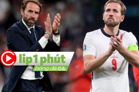 """ĐT Anh """"đánh bạc"""" giữ Southgate sau cú sốc EURO, Harry Kane tăng giá cực """"khủng"""" (Clip 1 phút Bóng đá 24H)"""