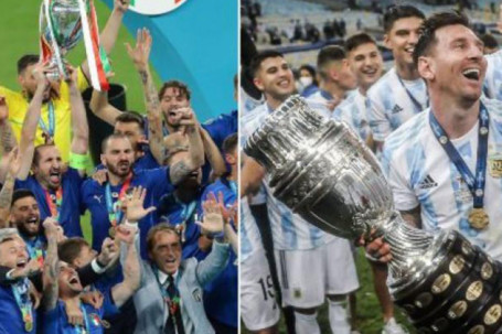 Italia & Argentina đăng quang châu lục, vẫn bị chê khó vô địch World Cup 2022