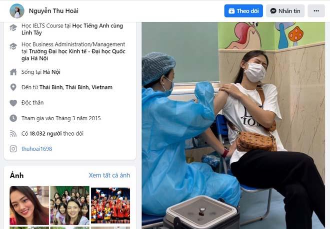 """Hot girl bóng chuyền Thu Hoài tiêm vaccine Covid, dân mạng """"cười té ghế"""" - 1"""