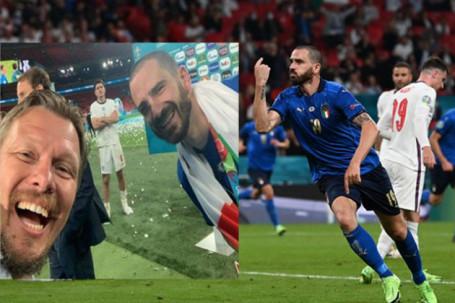 """ĐT Anh lại """"sôi máu"""": Siêu trung vệ Italia chụp lén trêu ngươi Maguire"""