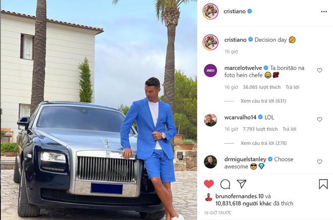 Ronaldo bị Messi vượt qua trên mạng xã hội, đăng thông điệp gây tò mò - 1