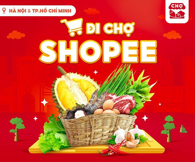 """""""Đi chợ Shopee"""" - chương trình hỗ trợ mua sắm thực phẩm, nhu yếu phẩm cho người tiêu dùng - 1"""