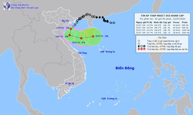 Áp thấp nhiệt đới đổ bộ Hải Phòng-Ninh Bình, mưa to, gió giật nhiều nơi - 1