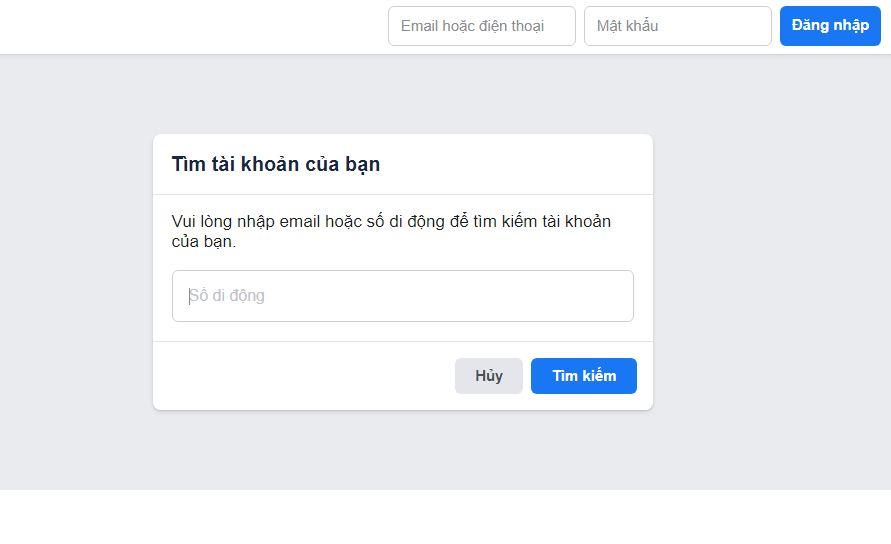Cách lấy lại tài khoản Facebook bị quên mật khẩu hay bị hack - 1