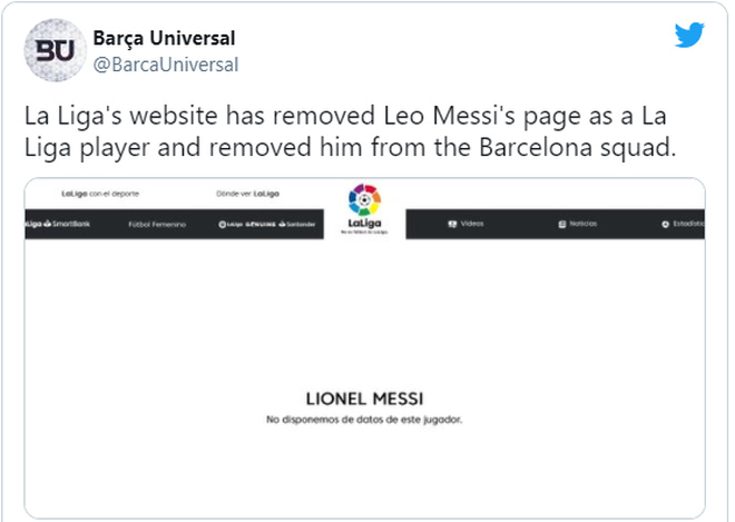 """Messi bị La Liga gạch tên khỏi Barca gây sốc: Hàng loạt """"đại gia"""" vào cuộc - 1"""