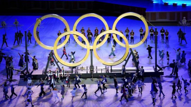 A series of photos of the 2021 Olympic Games opening colorfully, without a shadow of the audience - 8
