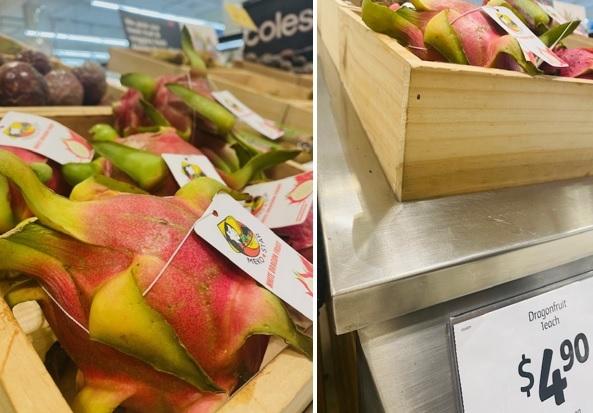 Thanh long Việt Nam bán ở siêu thị Australia giá 80.000 đồng mỗi quả - 1