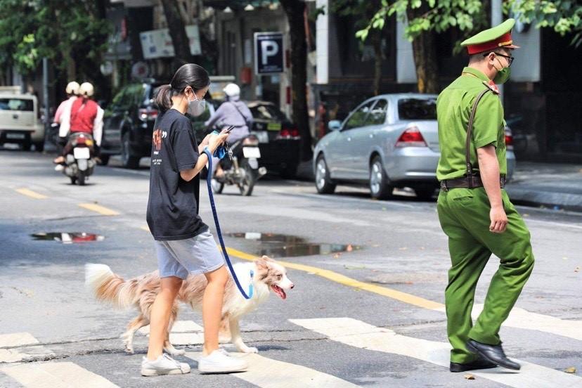 Dắt chó đi dạo, cô gái bị xử phạt 2 triệu đồng - 1