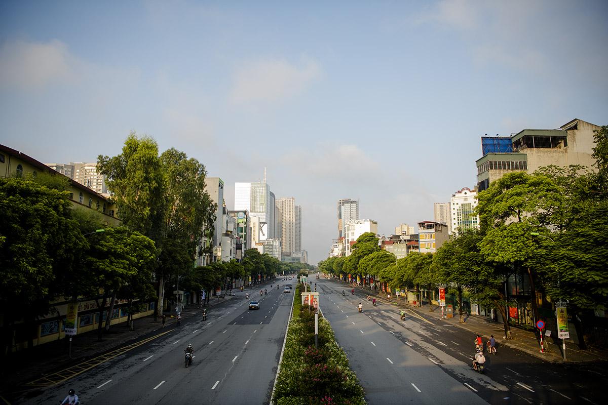 Hình ảnh phố phường Hà Nội lần thứ 2 giãn cách toàn xã hội theo Chỉ thị 16 - 22