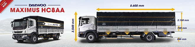 Xe tải Daewoo HC8AA tải trọng 8.6 tấn sắp ra mắt tại Việt Nam - 1