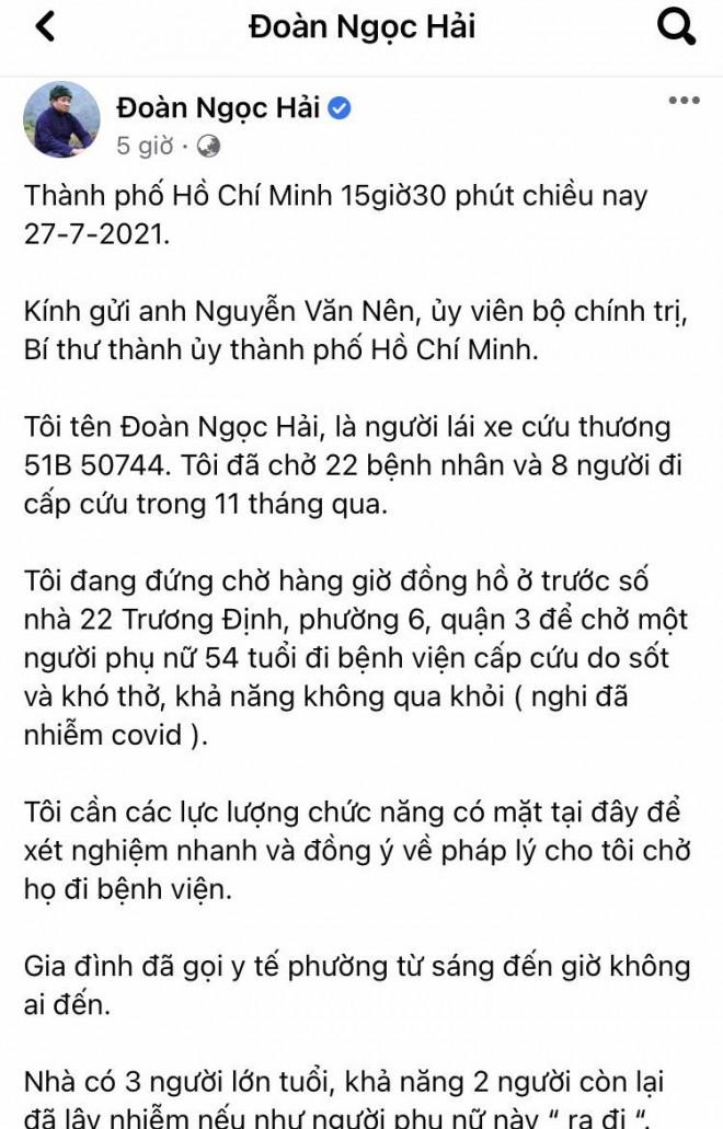TP HCM: Quận 3 phản bác thông tin ông Đoàn Ngọc Hải phản ánh trên Facebook - 1