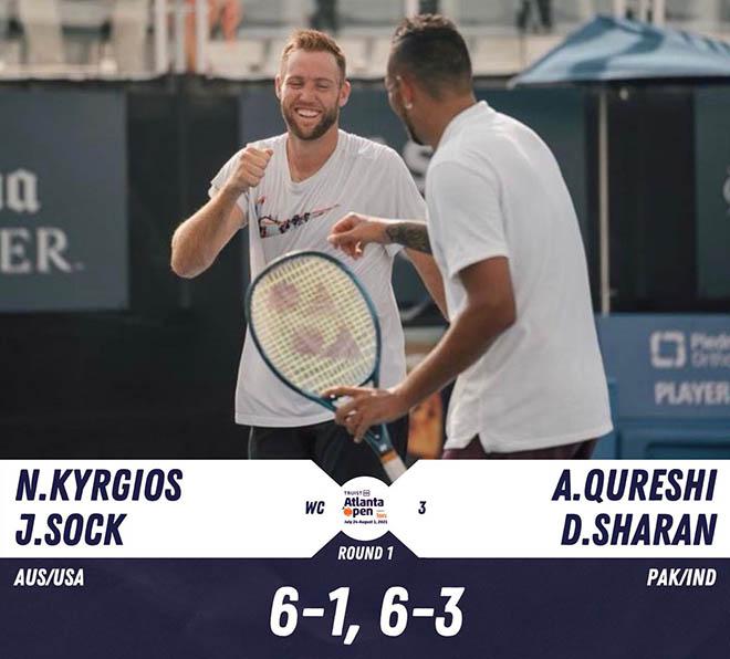 """Nóng nhất thể thao tối 27/7: """"Trai hư"""" Kyrgios đánh đôi, thắng trận ra quân Atlanta Open - 1"""