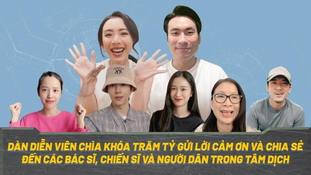 """""""Hoa hậu hài"""" Thu Trang, Puka cùng dàn sao """"Chìa khóa trăm tỷ"""" quay clip cổ động mùa dịch - 1"""
