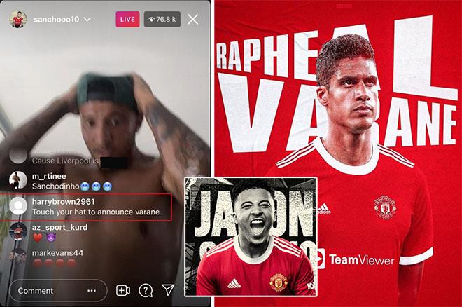 """MU chính thức chiêu mộ Varane: Fan biết trước 1 ngày nhờ... """"điệp viên"""" Sancho - 1"""