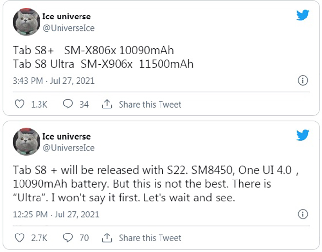 """Galaxy Tab S8 Ultra sẽ có màn hình kỷ lục, pin """"trâu"""" hơn iPad Pro - 1"""