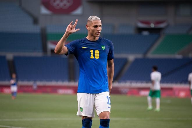 Video bóng đá Olympic Saudi Arabia - Brazil: SAO Everton lập cú đúp, 4 bàn mãn nhãn - 1