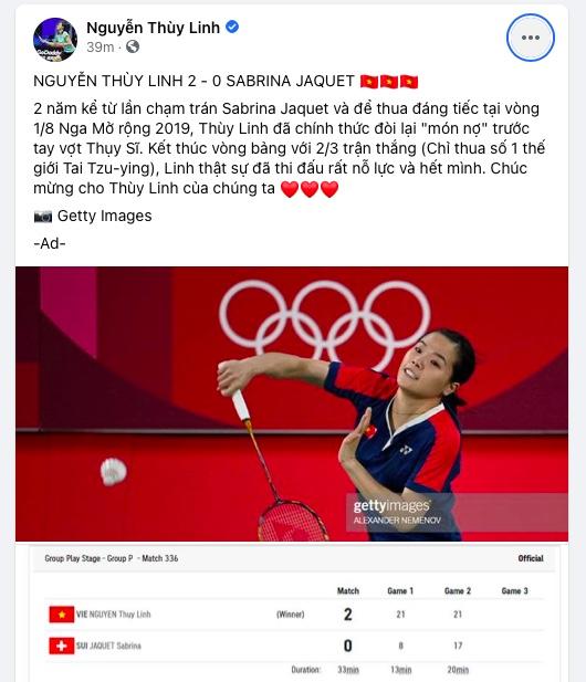 """Hotgirl cầu lông Nguyễn Thùy Linh lại """"đốn tim"""" fan trên mạng xã hội - 1"""