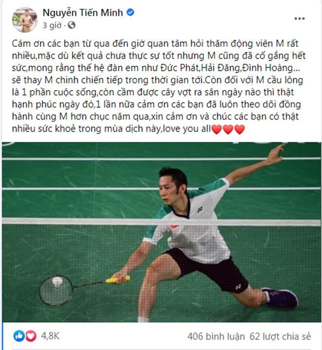 """Tiến Minh viết tâm thư về Olympic, kể tên các """"truyền nhân"""" cầu lông Việt Nam - 1"""