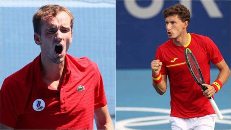 Nóng tennis Olympic: Medvedev thua sốc, Zverev gặp Djokovic ở bán kết - 1