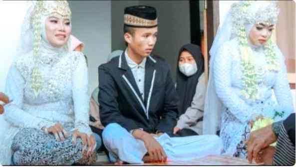 Chú rể 20 tuổi kết hôn với 2 cô dâu cùng một lúc, danh tính của các thiếu nữ khiến dân mạng ngã ngửa - 1