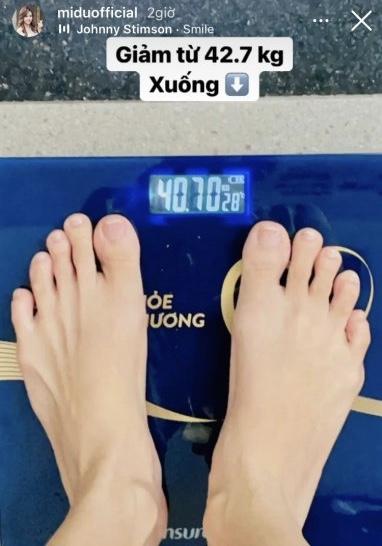 Midu tiết lộ cân nặng đáng báo động gây ngỡ ngàng - 1